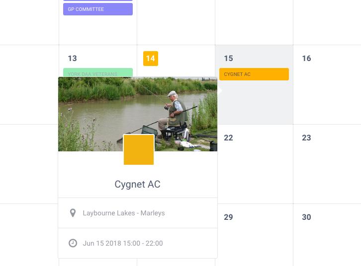 YDAA Match Calendar